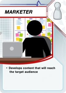 Develops content that will reach the target audience